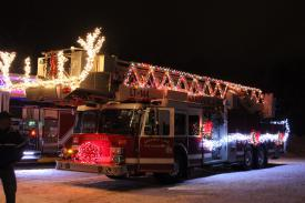 """Rudolf-The Red Nosed Ladder Truck"""