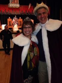 King Brendan Keough and Queen Kathy Ford:  King and Queen of the 2016 Saranac Lake Winter Carnival