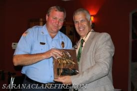 Head Driver Rick Yorkey receives the Chiefs award from Chief Brendan Keough.