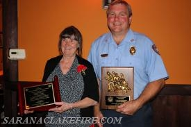 "Barb Kent and Rick Yorkey.  Barb received the ""Ruth King"" award and Rick received the Chief's award."