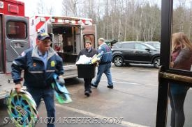 SLVFD and SLVRS members deliver the toys to the distribution center.