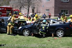 SLVFD and SLVRS work together to extricate victims during mock DWI crash.