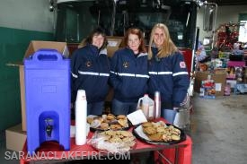 Our newly formed SLVFD Auxiliary provided snacks and refreshments to all who participated...