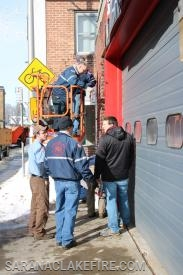 During the toy drive SLVFD members decorated the firehouse and visited with community members.