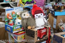 Some of the cute toys dropped off for the 2018 Holiday Helpers Toy Drive