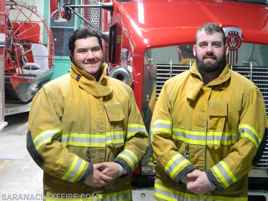 New SLVFD Members L-R Keegan Tyler and Codey LaPage.