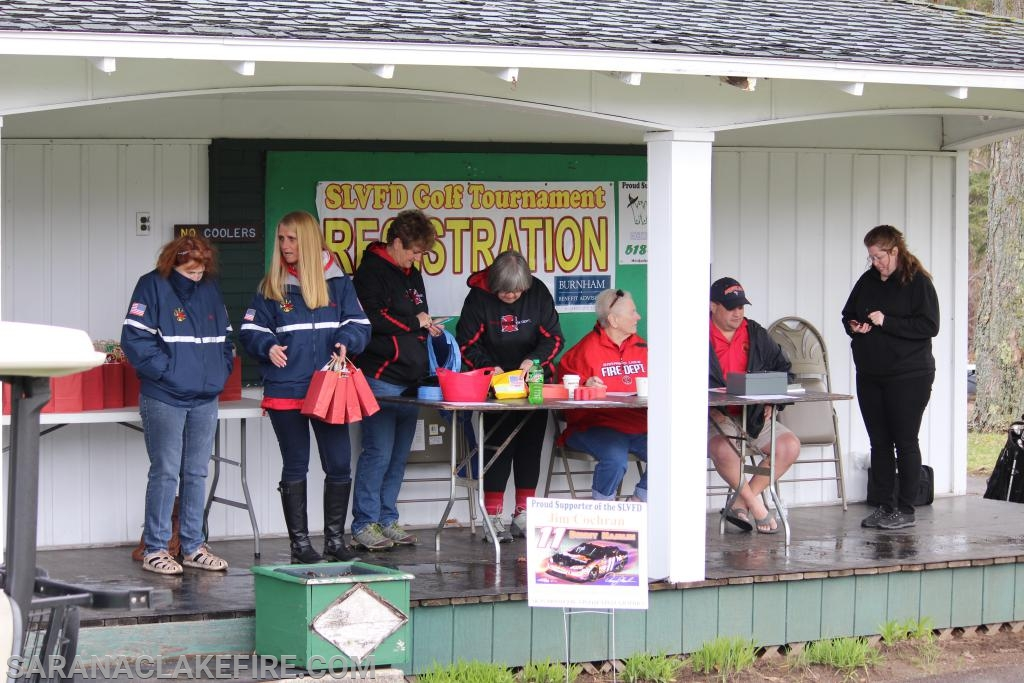 SLVFD Members and SLVFD Auxiliary Members help out with tournament registration.