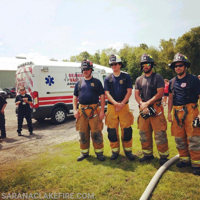 SLVFD Members L-R Lieutenant Michael Knapp, 2nd Assistant Chief Doug Peck, Firefighter Codey LaPage, and Firefighter Justin Fletcher.