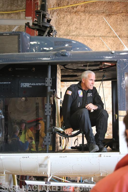 New York State Police Pilot Scott Kotronis provides instruction.