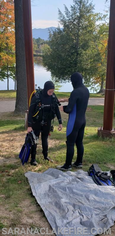 SLVFD Divers participate in the  Open Water Basic Scuba Class.