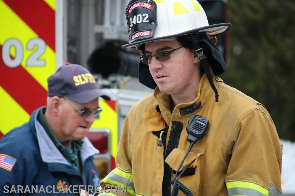 L-R SLVFD Past Chief Andy McGill and Assistant Chief Doug Peck