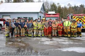 35 Firefighters from 5 local departments pose following todays training.