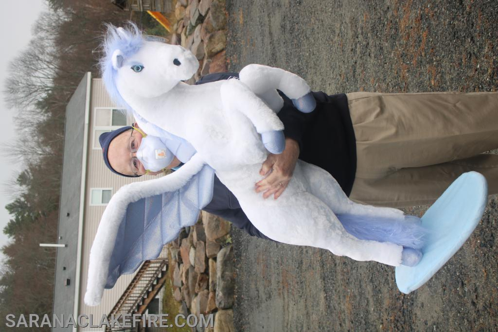 Fire Police Captain Gifford Hosler may have in fact found an actual unicorn...