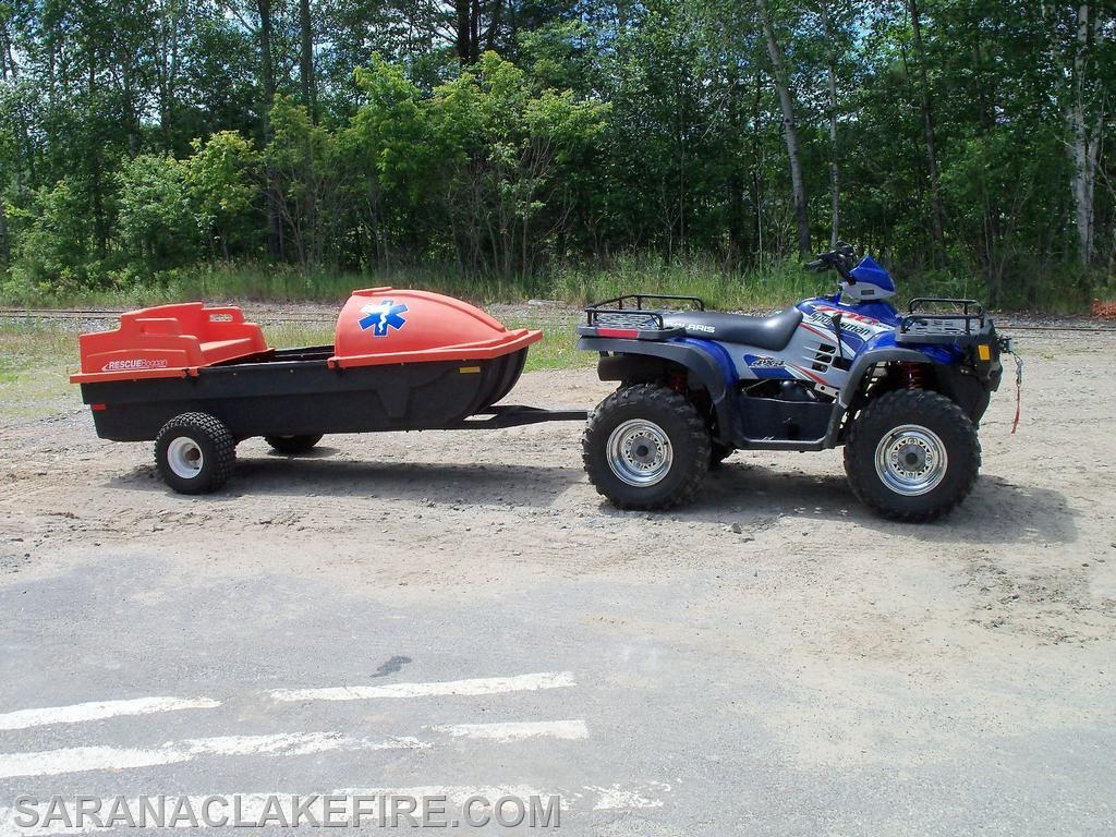 4 wheeler and Rescue Sled